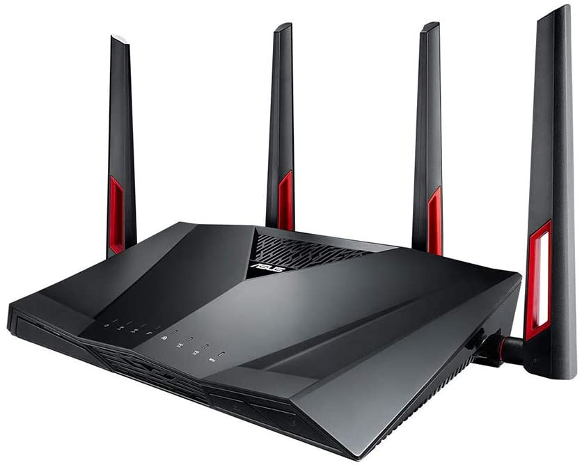 Top Cheap Budget Wireless Routers in 2020 - Under $100-Asus RT-AC88U Gaming Router (the best Wi-Fi router for long range)