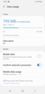 Switch off data saver to speed up data connections on Android phones or iPhones