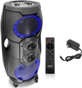 PyleUSA Portable Bluetooth PA Speaker system PPHP82LB: Best bass