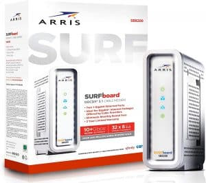 Arris Surfboard SB8200 Cable modem: best DOCSIS 3.1 Modem for compatibility with all ISPs gigabit plans