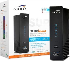 Arris Surfboard SBG7600AC2 Modem router: Best Arris modem router combo for internet plans of up to 600Mbps