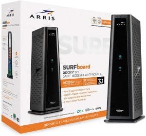 Arris Surfboard SBG8300 Modem router: The best for compatibility with most ISPs
