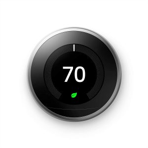 Google Nest Learning programmable smart thermostat: Best smart thermostat for Google Home and compatible with Alexa