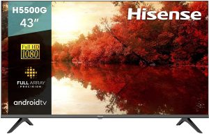 Hisense 43-Inch 43H5500G Class Android Smart TV: Best budget smart TV for streaming