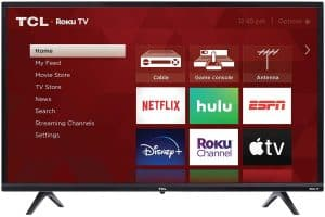 "TCL 32"" 3-Series 720p Roku Smart TV: Best for a modest smart home"