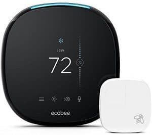 ecobee4 Smart Thermostat with Built-In Alexa: Best thermostat with built-in Alexa and smart sensor