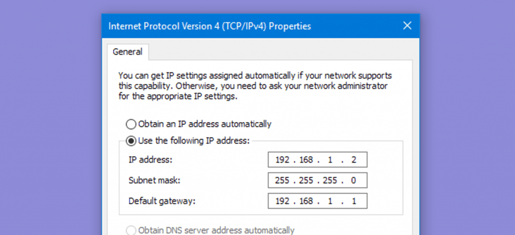 setting static IP address on your router- One of the best settings for gaming on Xbox One and PS4