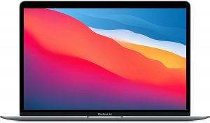 """Apple MacBook Air Laptop: Apple M1 Chip, 13"""" Retina Display, 8GB RAM, 256GB SSD Storage, Backlit Keyboard, FaceTime HD Camera, Touch ID. Works with iPhone/iPad; Space Gray: Best for students"""