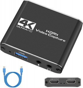 TKHIN Capture Card, Audio Video Capture Card with Microphone
